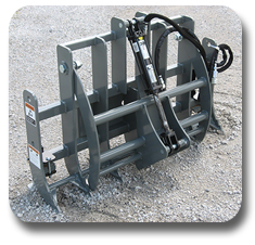 Mini skid steer / Compact tool carrier grapple from SitePro