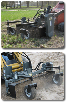 sitepro 39 s power landscape rakes are the ideal tool for the landscape