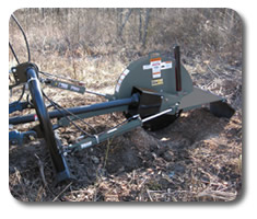 PTO stump grinder attachments for skid steers from SitePro.
