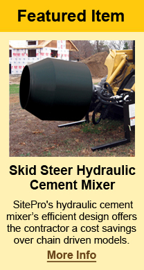 Mini Skid Steer Pallet Forks from SitePro