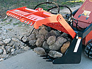 Sweep Action Rock Grapple attachments from SitePro.