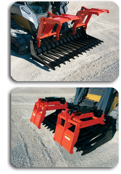 SATG-series Sweep Action Tine Grapples.