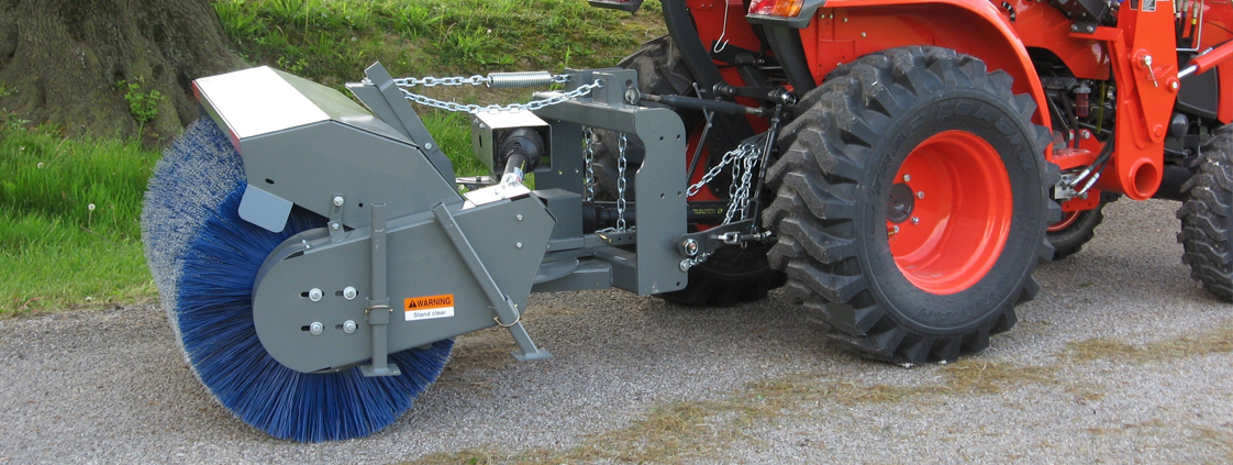 Skid Steer and 3-pt. Tractor Mount Rotary Brooms from SitePro