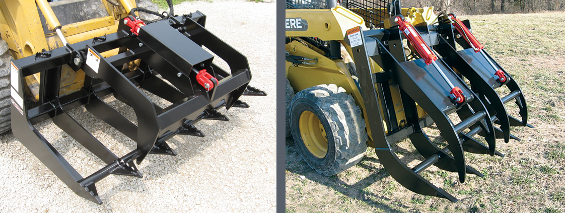 Skid Steer Split-top Grapple from SitePro